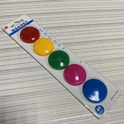 Магниты для доски 5шт 4см круглые цветные