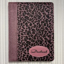 Дневник 1-11 48л Кожзам Пятнистая расцветка. Красный (мех, аппликация с печатью, ляссе)