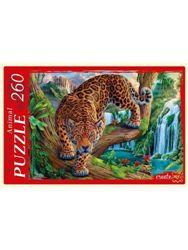 Пазлы 260эл «Леопард и водопад»