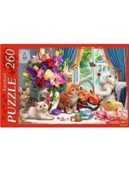 Пазлы 260эл «Натюрморт с котятами»