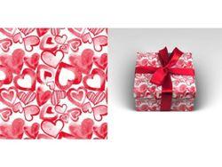 Упаковочная бумага 70х100см 90г/м2 Акварельная любовь (1 лист в рулоне)
