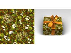 Упаковочная бумага 70х100см 90г/м2 Милитари (1 лист в рулоне)