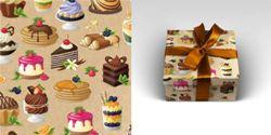 Упаковочная бумага 70х100см 90г/м2 Твой десерт (1 лист в рулоне)