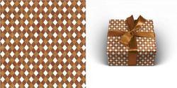 Упаковочная бумага 70х100см 90г/м2 Тоффи (1 лист в рулоне)