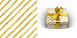 Упаковочная бумага 70х100см 90г/м2 Золотая диагональ (1 лист в рулоне)