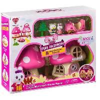 Игровой домик с машиной,мишкой и зайчиком