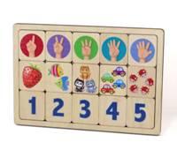 Игра деревянная «Считаем до пяти»